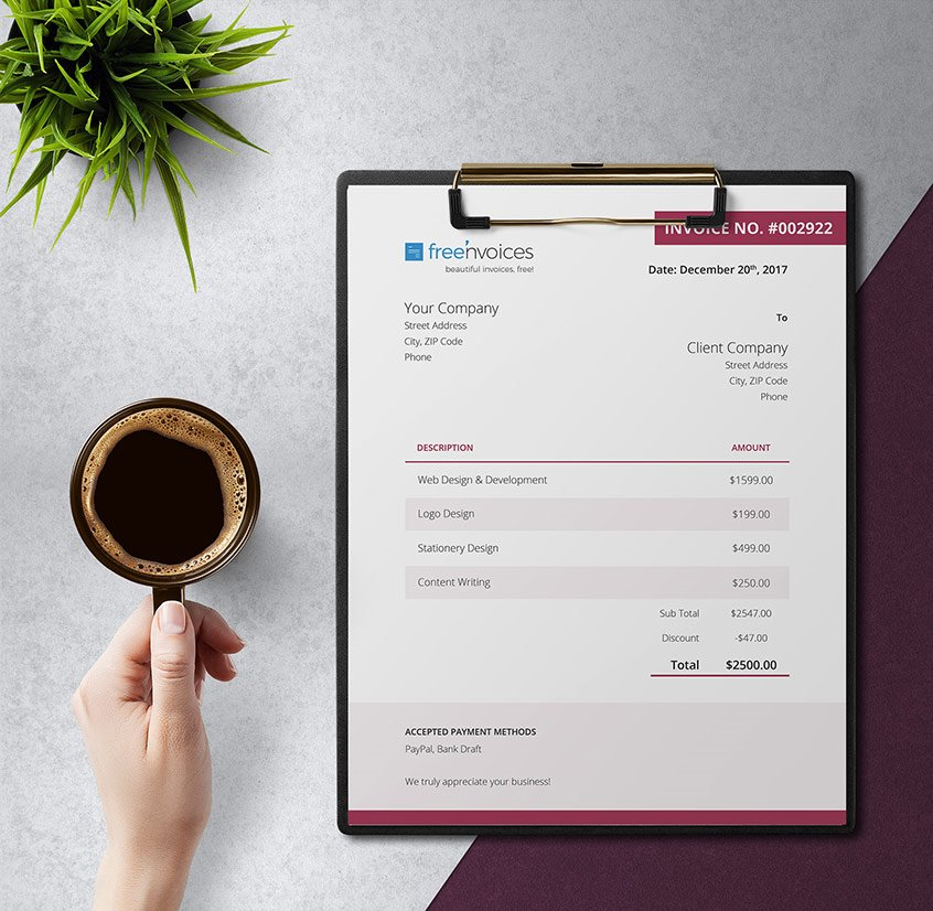 cherry invoice template