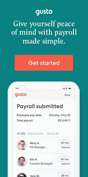 Gusto platform for payroll